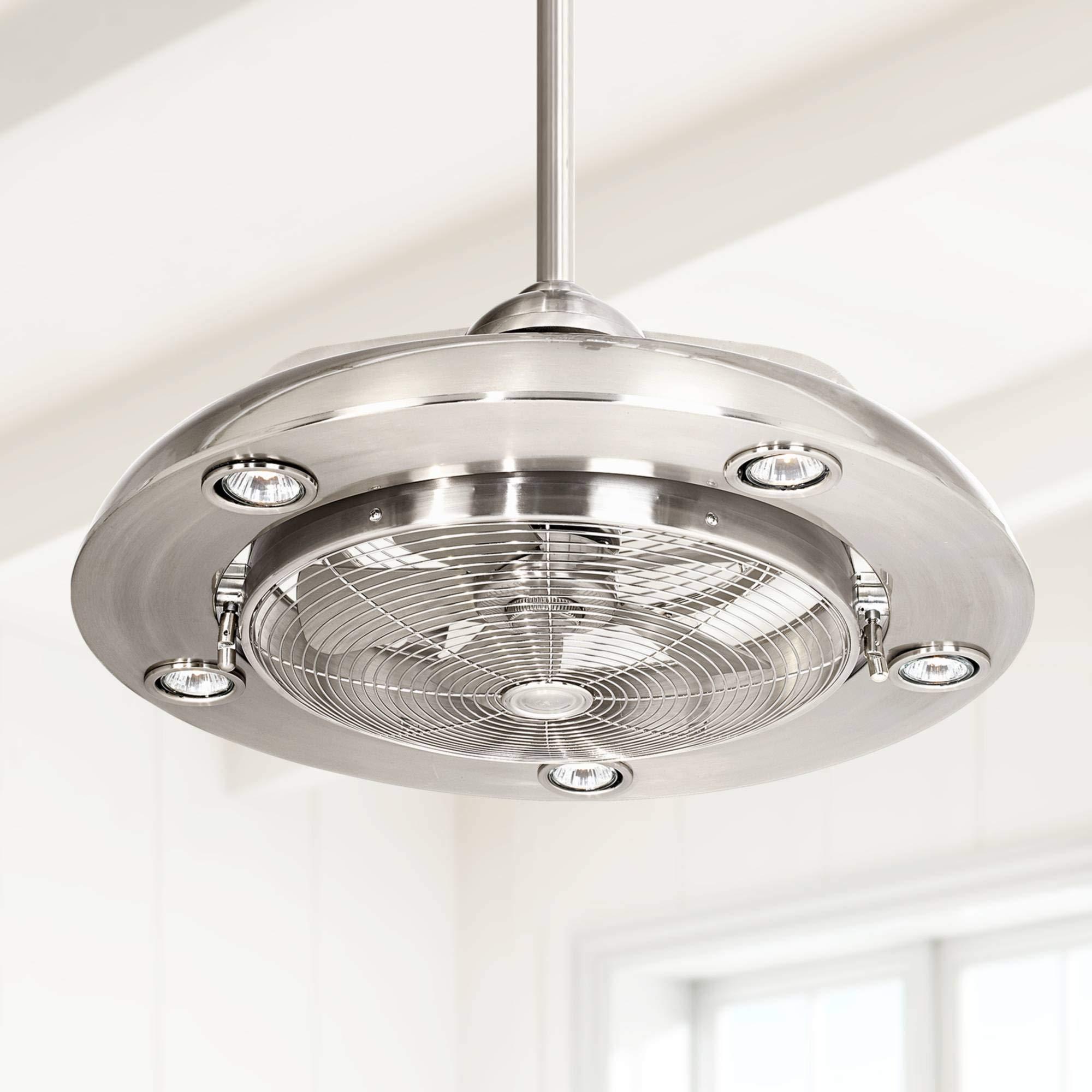 24'' Segue Possini LED Brushed Nickel Ceiling Fan - Possini Euro Design