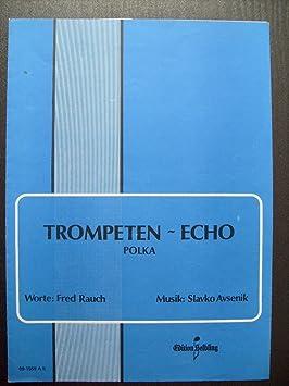 Trompeta de Echo: Polka para acordeón con unterlegtem TEXT