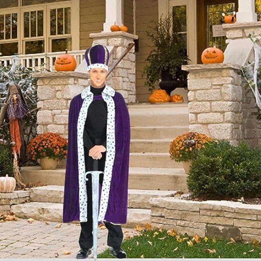 Wood.L Disfraz de Disfraz de Halloween Cosplay Rey Adulto Capa ...