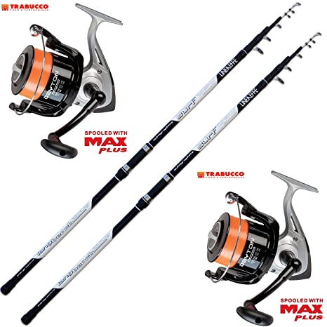 Evo fishing Kit Pesca 2 Canne Surf + 2 Mulinello Trabucco Dayton 8000 f029dea15ff5