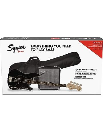 Fender Affinity Precision Bass PJ Laurel Pack Black + Funda + Rumble 15