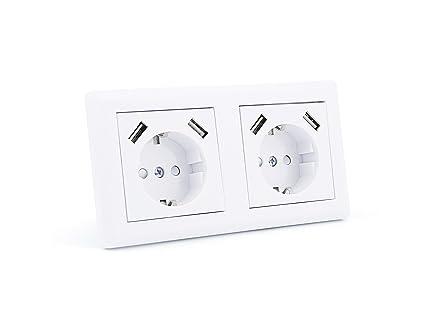 Enchufe Umoi iUSB con conexión USB, para empotrar en la pared, con