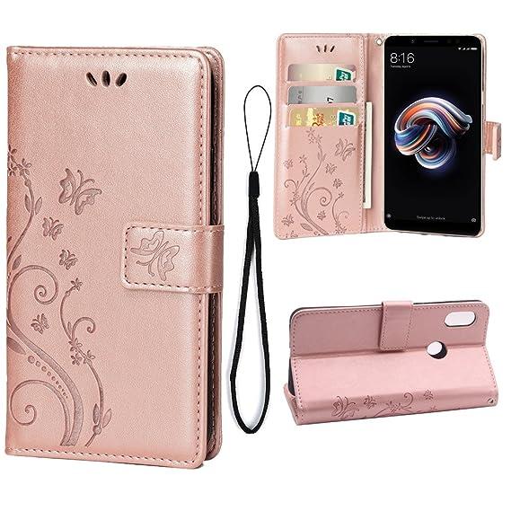 new product 56e43 8597d Amazon.com: Wallet Case Redmi Note 5 Pro Case, Leather Wallet Case ...