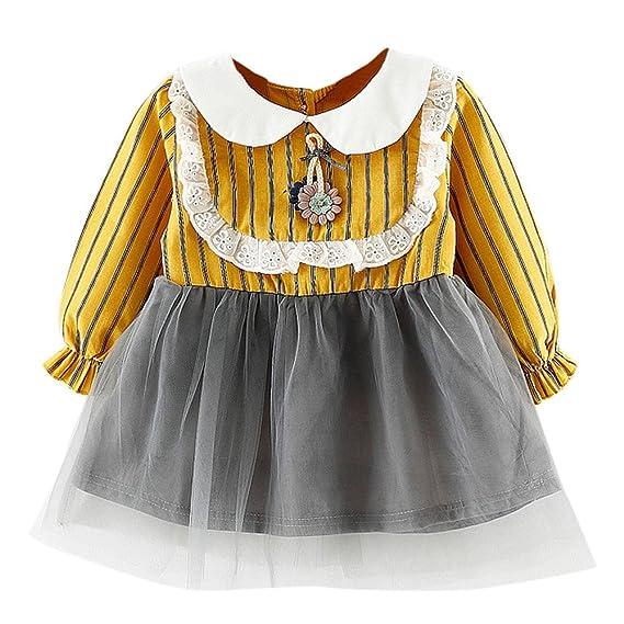 ✿Vestidos Bebe NiñA Verano Meses 18 Vestidos para NiñOs PequeñOs BebéS De NiñAs Encaje A