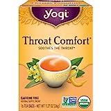 Yogi Tea - Throat Comfort (4 Pack) - Soothes the Throat - 64 Tea Bags