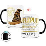 Morphing Mugs Personalized Harry Potter Hufflepuff Sorting Hat Heat Reveal Ceramic Coffee Mug - 11 Ounces - ADD YOUR OWN NAME TO YOUR HOGWARTS HOUSE!