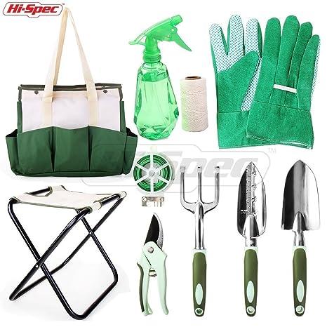 Apollo Hi-Spec Tools - Set de herramientas de jardinería, 10 piezas