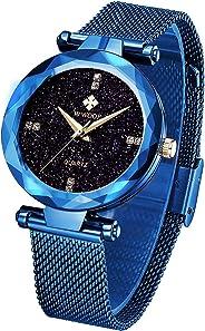 WWOOR Women's Watch Original Fashion Analog Quartz Watches with Stainless Steel Mesh Band Waterproof Wristwatch Casual Gift W