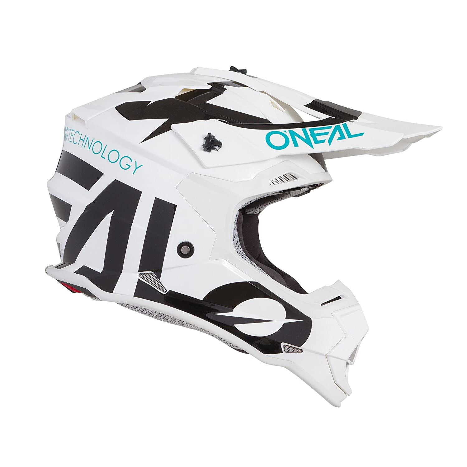 0200-S44 Oneal 2 Series RL Slick Motocross Helmet L White Black