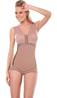 ca837ee7fbf48 Fajas Colombianas Dprada Short Post-surgical Girdle with Internal Bra  Shapewear (2XL (Fits