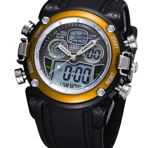 Moda Impermeable Reloj Deportivo analógico Digital Reloj Multifuncional Reloj de Pulsera de Cuarzo para los Estudiantes niños niñas Adolescentes: Amazon.es: ...