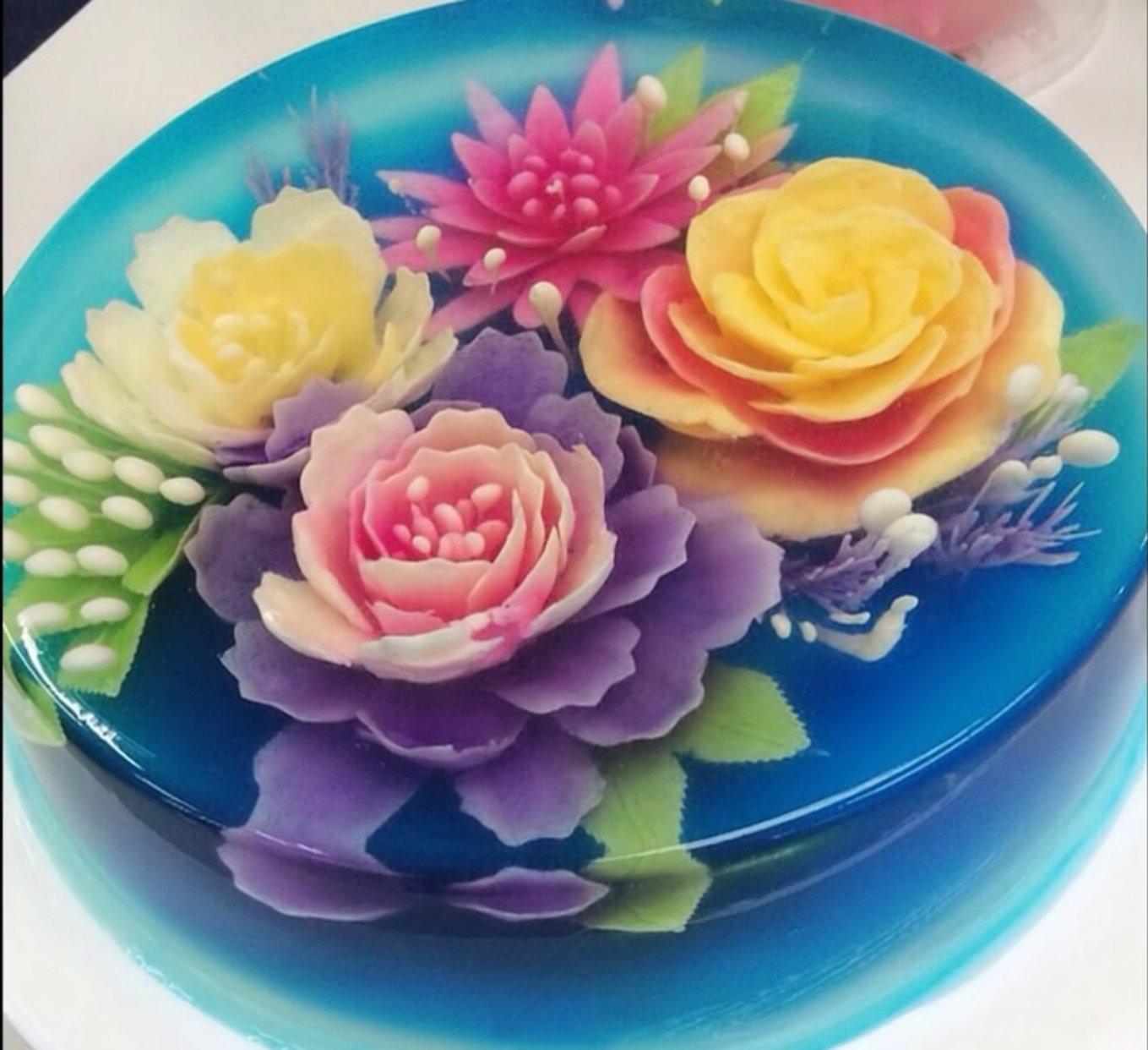 JJMG 3D Jelly Cake Needle Tips 5-Set DIY Gelatin Art Flower Needles Baking Pastry Tool with Syringe Jello Cake Stainless Steel Tips Tools (ABCDE 5 x 10pcs/set = total 50 tips) by JJMG