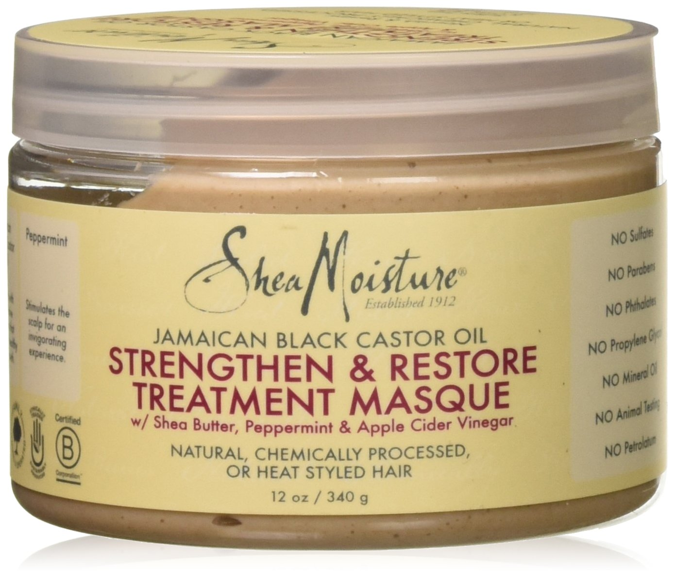 Shea Moisture Jamaican Black Castor Oil Strengthen Grow & Restore Treatment Masque 340g GT WORLD OF BEAUTY GmbH 215554