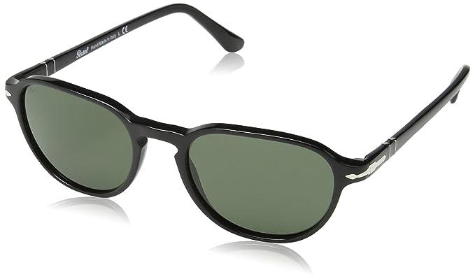 Persol Unisex Sonnenbrille PO3053S, Gr. Small (Herstellergröße: 52), Schwarz (Black/Grey 901431)