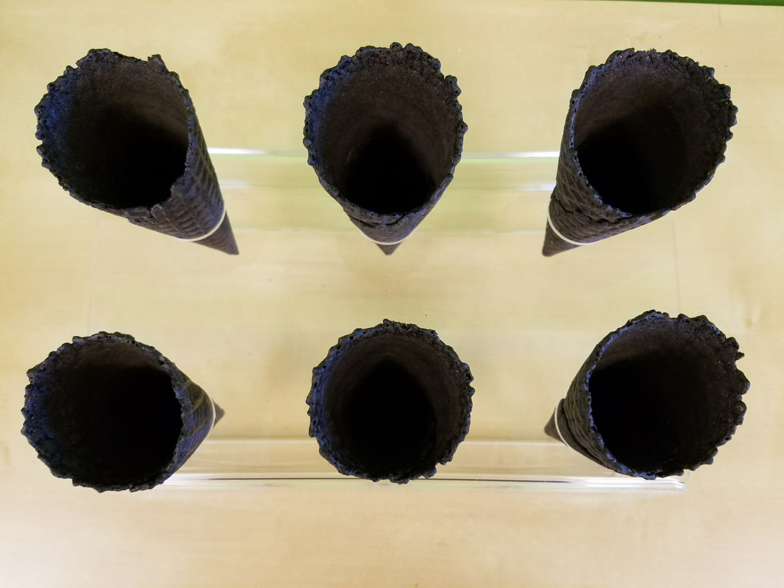 Cones (2.16'' X 5.5'') - 312 Units / Case (Black) by Altimate Foods (Image #2)
