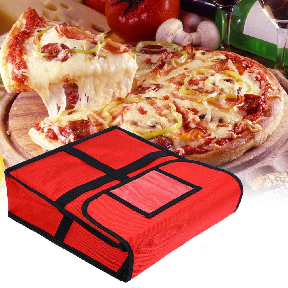 supporto verticale borsa per la consegna di alimenti caldi o freddi Borsa per pizza riutilizzabile coibentata con foglio di alluminio termoisolante con manici rinforzati e robusta cerniera