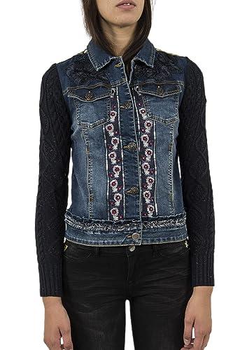 Blousons y chaquetas Desigual 17wwed32Exotic Ruffle Jacket Azul