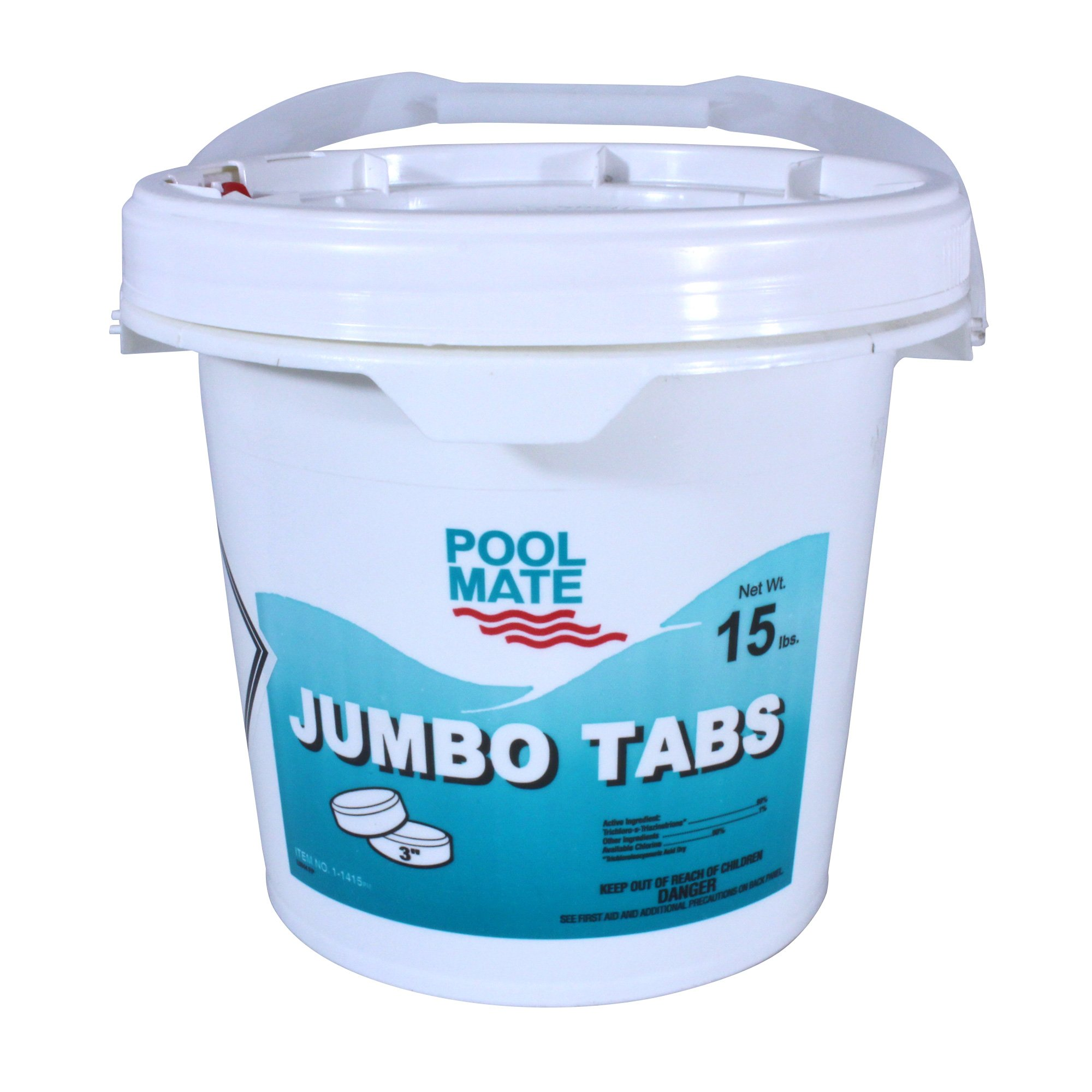 Pool Mate 1-1415 Jumbo 3-Inch Chlorine Tablets, 15-Pound by Pool Mate