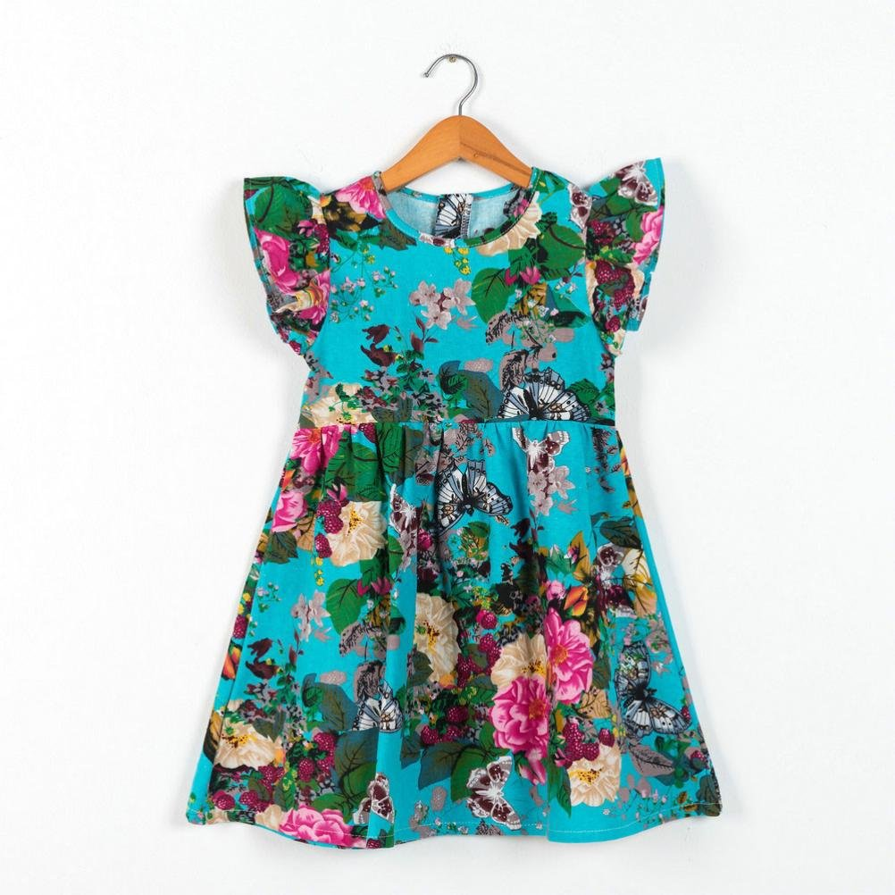 Beikoard Niña Vestido Liquidación, Ropa para niñas Bebe niñas niños Bebe contigo Sleeveless Florales Ropa Vestido de Princesa: Amazon.es: Ropa y accesorios