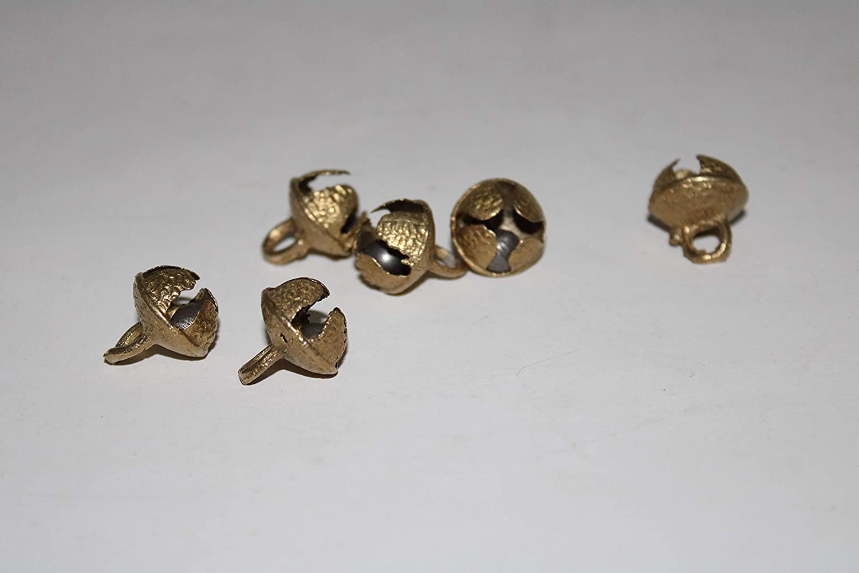 Buddha4all Big Dancing Bells Ghungroo Pair Handmade Indian Classical Dance Accessories for Bharatnatyam Odissi Ghungru Kuchipudi