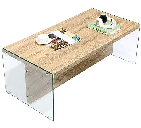 GreenForest Tavolino Moderno, Tavolo da Salotto Chiaro Tavolo da ...