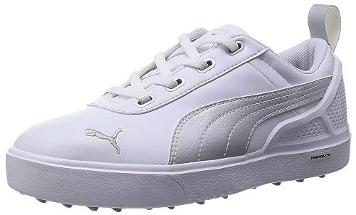 823b0ca807c6 Puma Golf Junior Boys Monolite Golf Shoes 2015 Lightweight Durability and  Comfort in White Silver