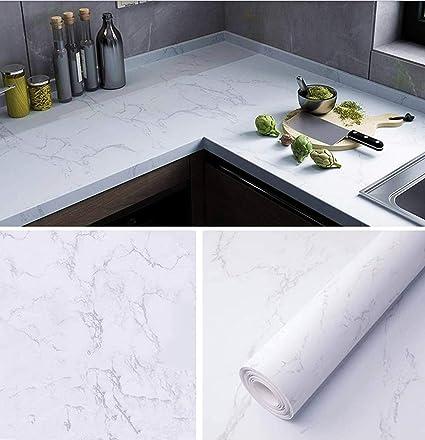 Fantasnight 10x10cm Marmor Folie Küche arbeitsplatte Folie selbstklebend  möbelfolie klebefolie PVC wasserdicht dekorfolie für möbel küche Schrank