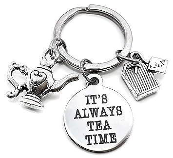 Amazon.com: Llavero de té, llavero de tetera, llavero de ...