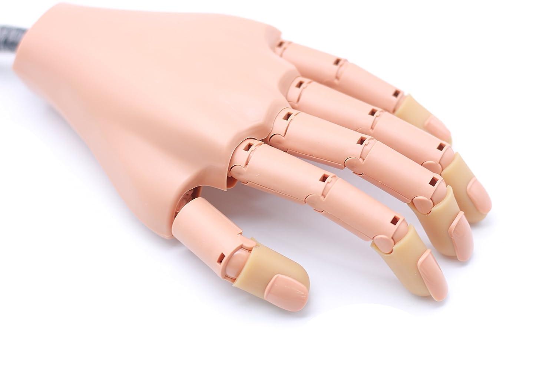 Amazon.com : Nail Art Practice Model Flexible Plastic False Hand ...
