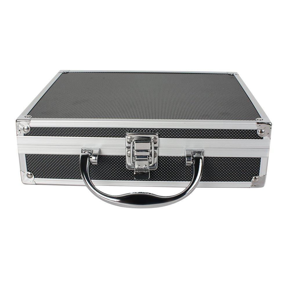 Zinnor 3.5x420mm Dental Surgical Medical Binocular Loupe + LED Head Light Lamp + Aluminum Box (Black)