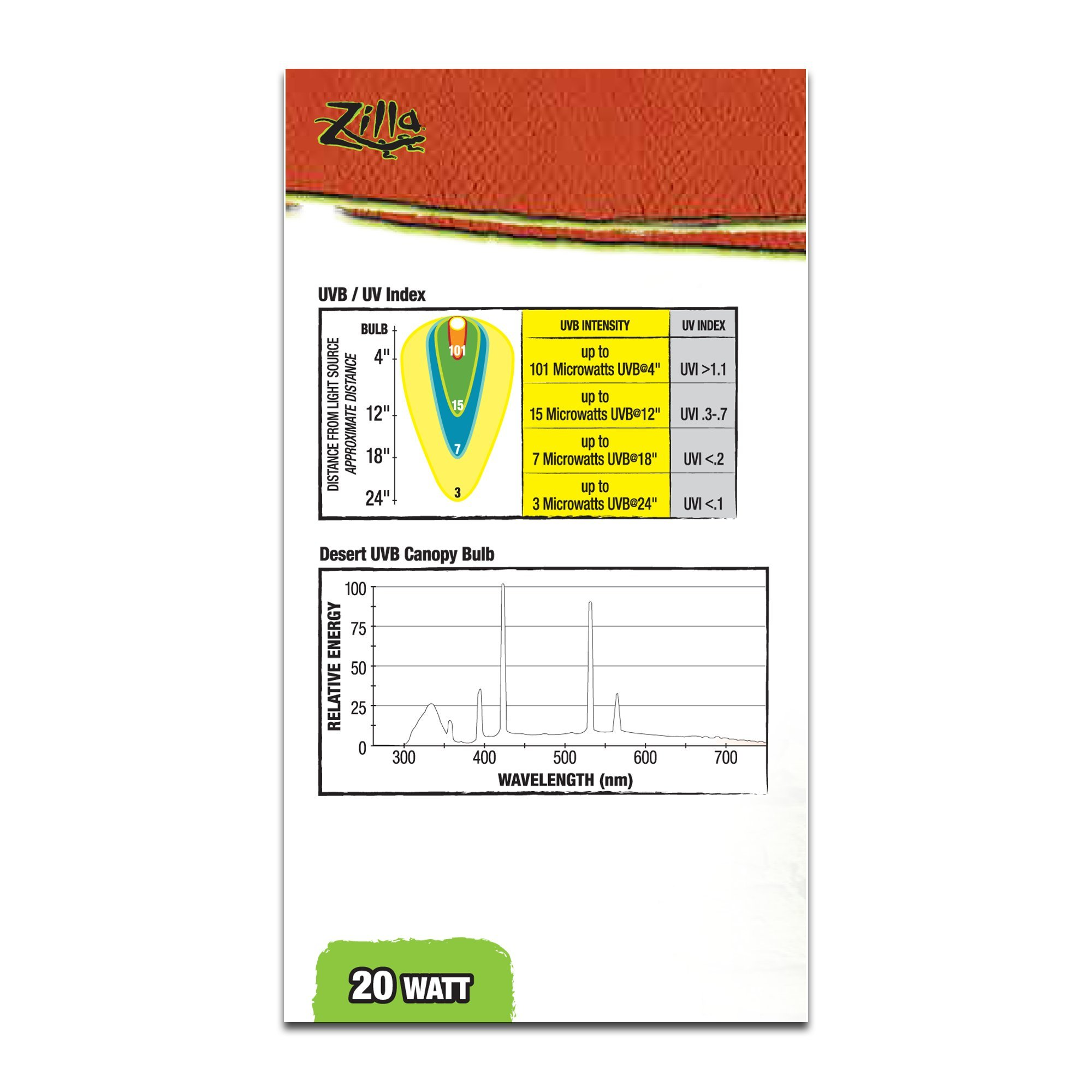 Zilla Desert Fluorescent UVB/UVA Bulb, 20 Watt, 3.875 IN by Zilla (Image #3)