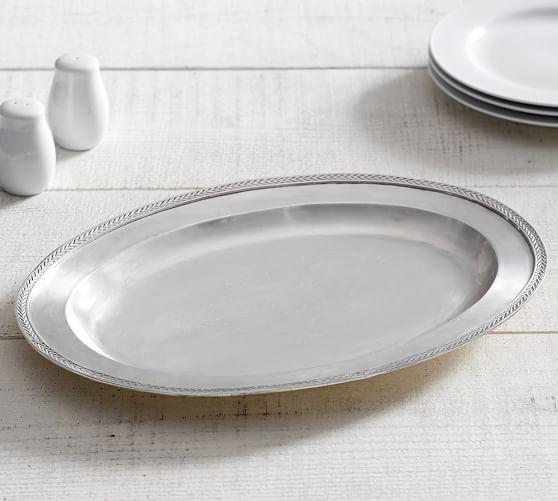 Antique Silver Serving Platter | Pottery Barn
