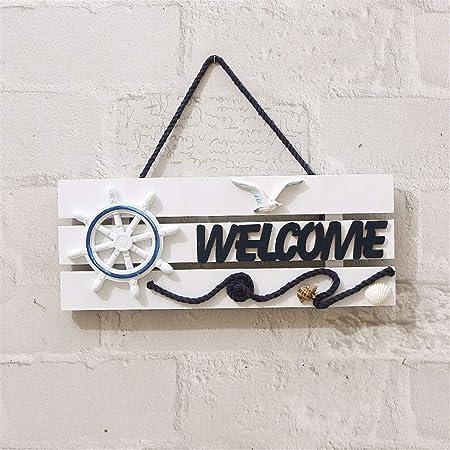 Cartel de bienvenida para colgar en la pared Timón de estilo ...