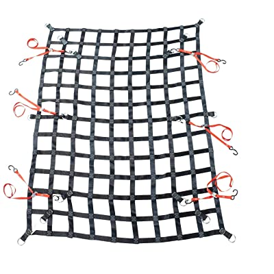 Mytee Products 6' x 8' Heavy Duty Cargo Net w/D Rings for Pickup Truck: Automotive