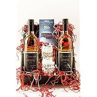 Frisky & Flirty Semi-Sparkling White Wine and Chocolate Gift Set, 2 x 750 mL
