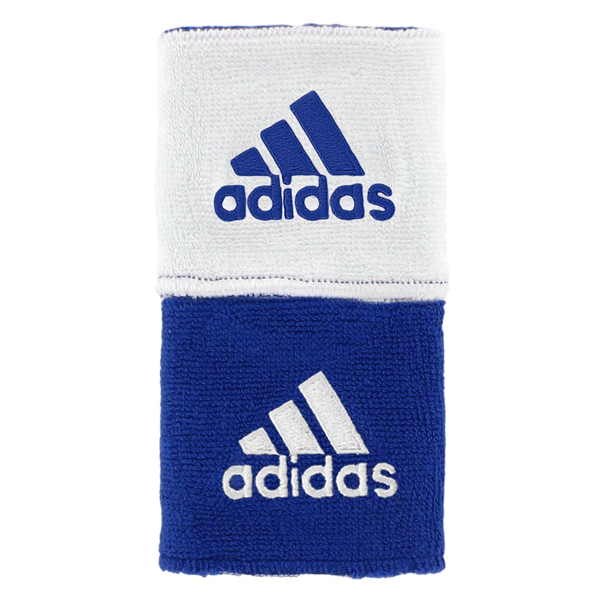adidas Interval Reversible Wristband, Collegiate Royal/White / White/Collegiate Royal, One Size Fits All