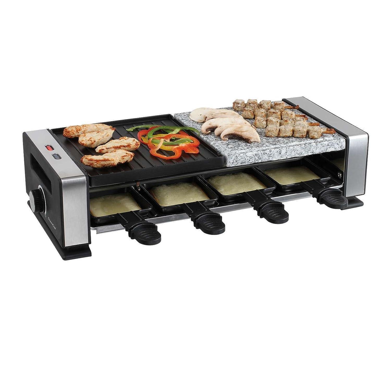 2 in1 Raclette piedra Parrilla mesa grill eléctrico Barbacoa ...