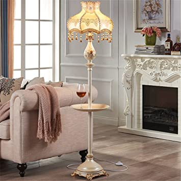 Stehlampe Amerikanischer Stil Wohnzimmer Schlafzimmer Studie Mit Couchtisch  Nachttisch Vertikal Stehlampe,A
