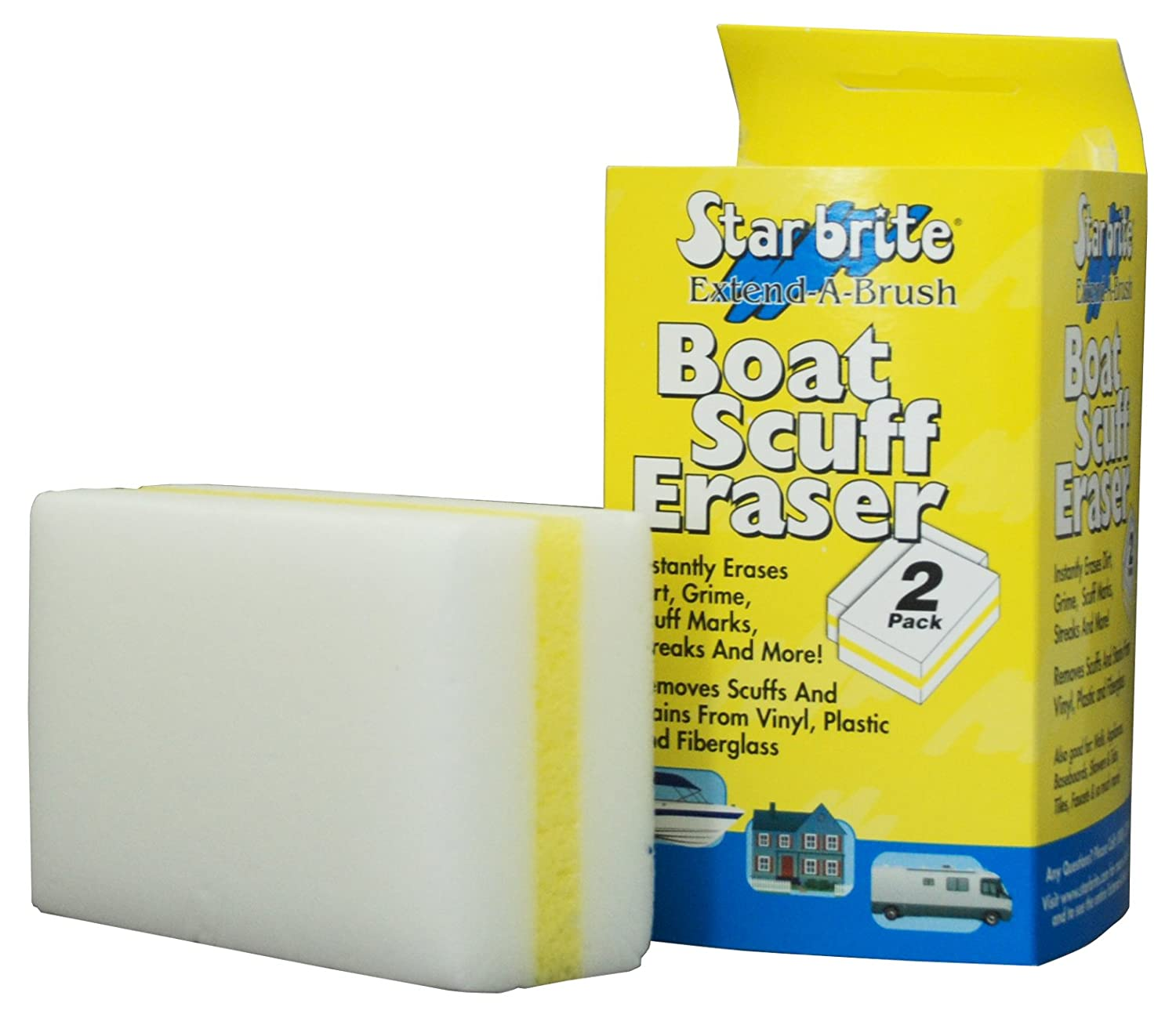 Star brite 041000 Boat Scuff Eraser-Poly Bag, Pack of 2
