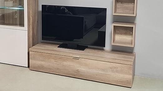 Mobel Akut Lowboard Tv Board 11 Cleo Von Cs Schmal Wildeiche 1 Klappe 163 Cm Breit Tv Teil Amazon De Kuche Haushalt