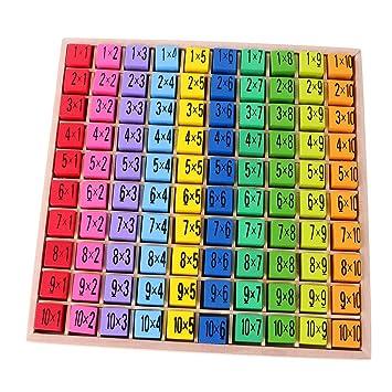 Sharplace 100-teilig Holz Tabelle Multiplikation Puzzle Mathematik ...