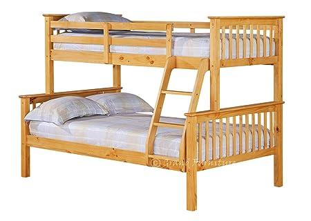 New Pixie Modern Children Wooden Triple 3 Sleeper Bunk Bed Frame