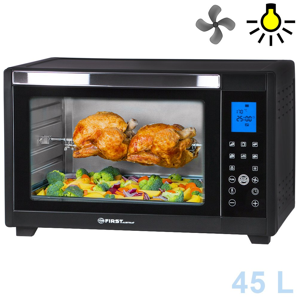 Horno eléctrico L digital  W  con display LED iluminación interior