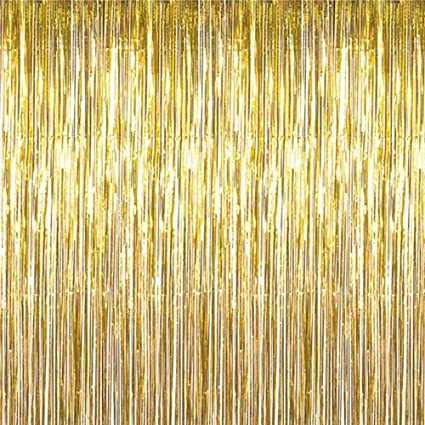 Amazon.com: Cortina de flecos de lámina con diseño de Maid ...
