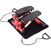 Homcom Mini Stepper Exercise Stepper Machine Legs Arms Thigh Toner Toning Machine Workout Training Fitness Stair Steps New Black and Red
