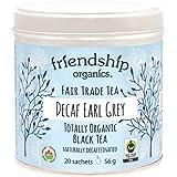 Friendship Organics Decaf Earl Grey Tea Bags, Organic and Fair Trade Black 20 count