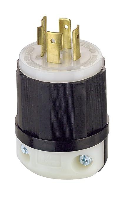 leviton 2431 20 amp 480 volt 3 phase nema l16 20p 3p 4w locking rh amazon com 480 Volt 3 Phase Delta how to wire a 480 volt 3 phase plug