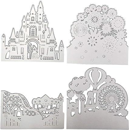 Carbon Steel Cartoon Lace Ring Cutting Die Set Embossing  DIY Paper Art Craft