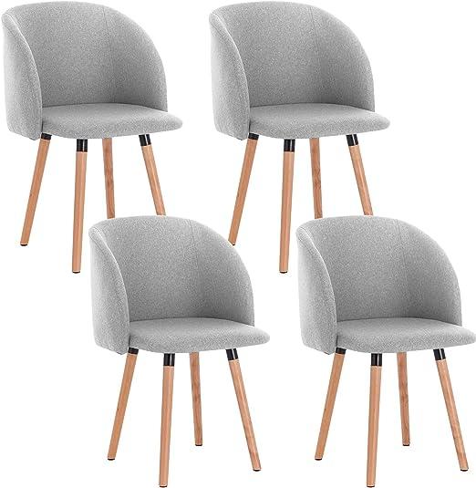 WOLTU 4X Sillas de Comedor Nordicas Estilo Vintage Dining Chairs ...