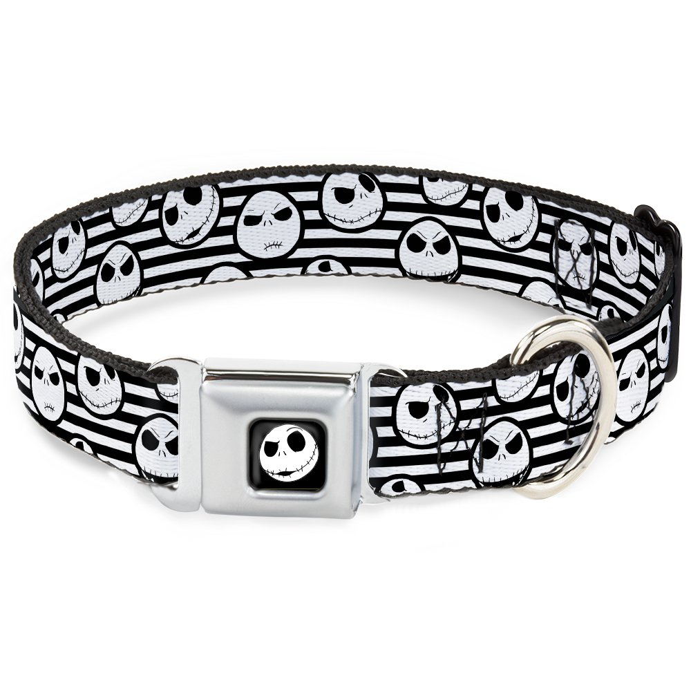Buckle-Down DC-WDY267-WS DYAE Jack Expression2 Full color Dog Collar, WIDE-Small 13-18